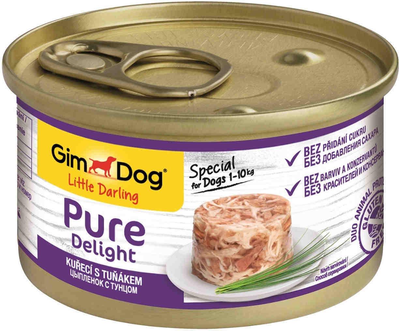 GimDog Pure Delight влажный корм для взрослых собак всех пород, цыпленок и тунцом 85 гр