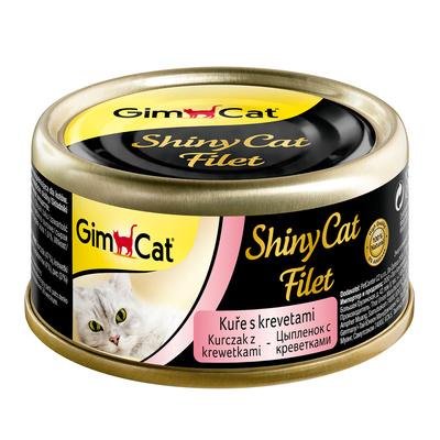 Gimcat Консервы для кошек из цыпленка с креветками 414942, 0,070 кг