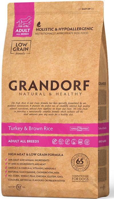 Корм Grandorf с индейкой для собак, 12 кг, GD Turkey 12