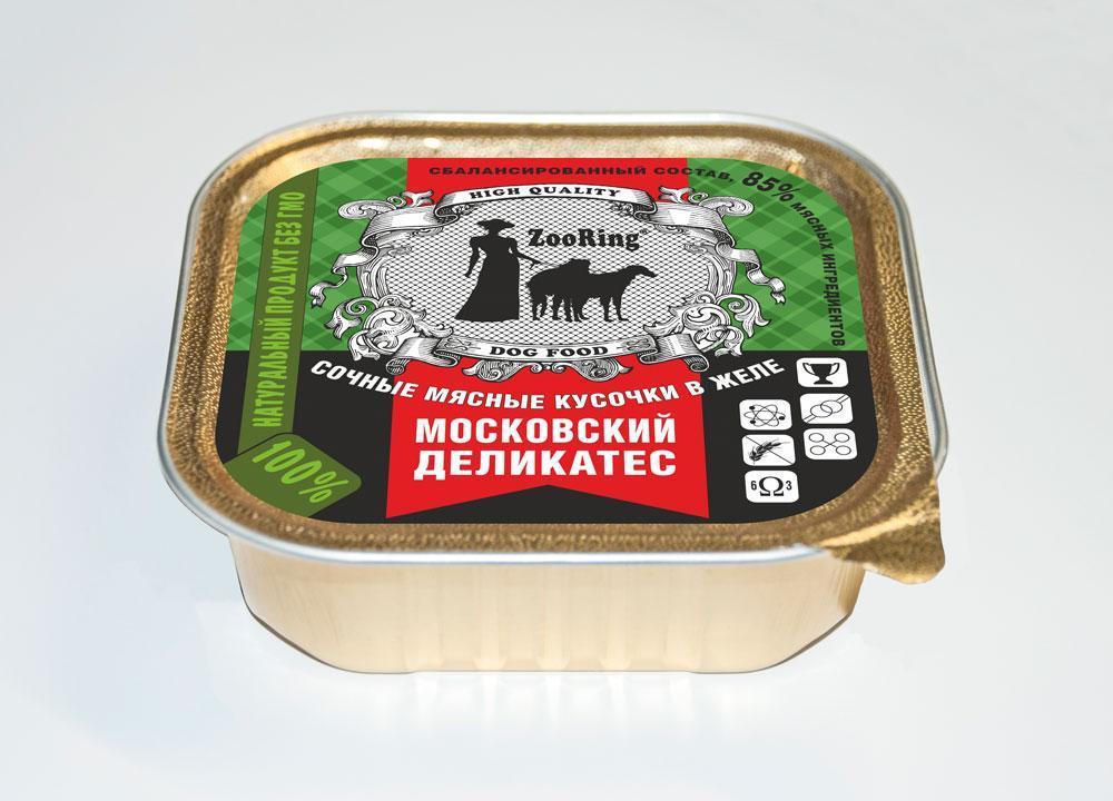 Zoo Ring Конс. д/с кусочки в желе, Московский деликатес, 0.100 кг