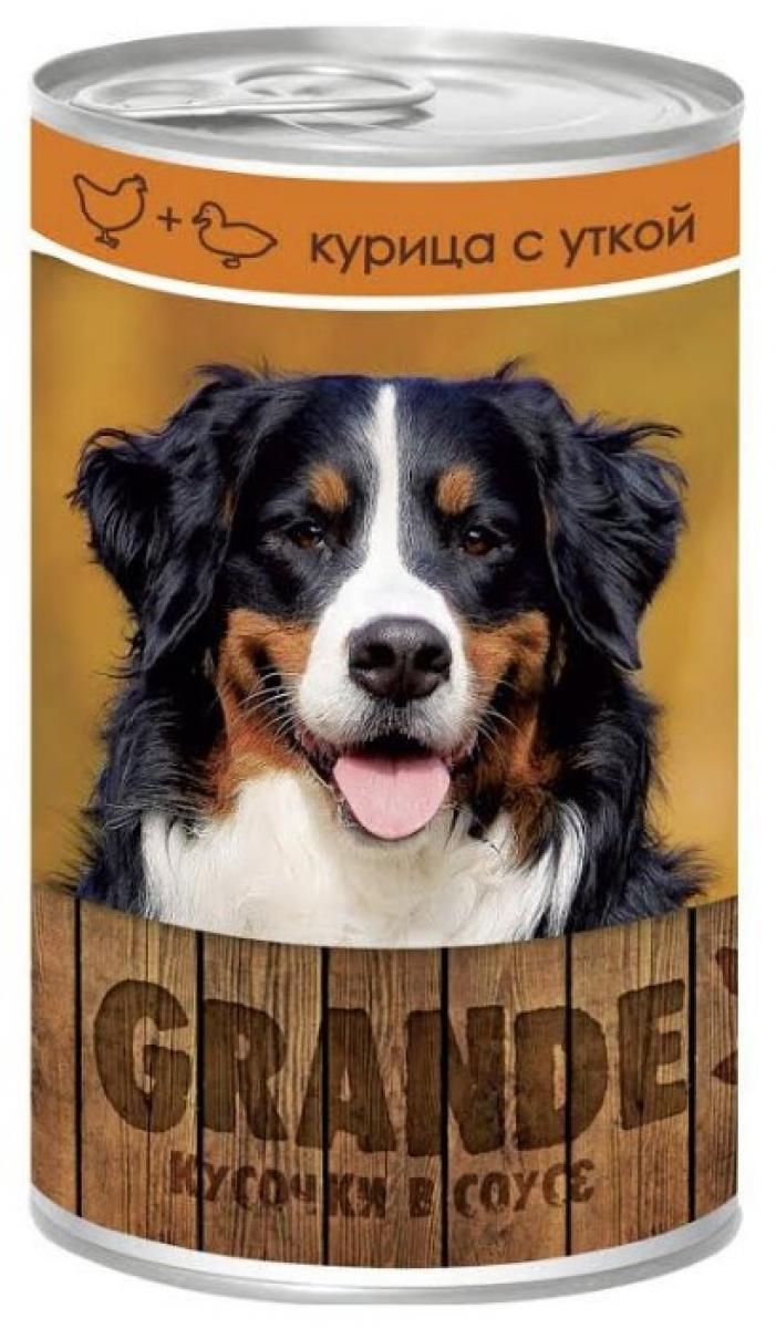VitaPRO Grande влажный корм для взрослых собак всех пород, кусочки в соусе, курица и утка 1,25 кг
