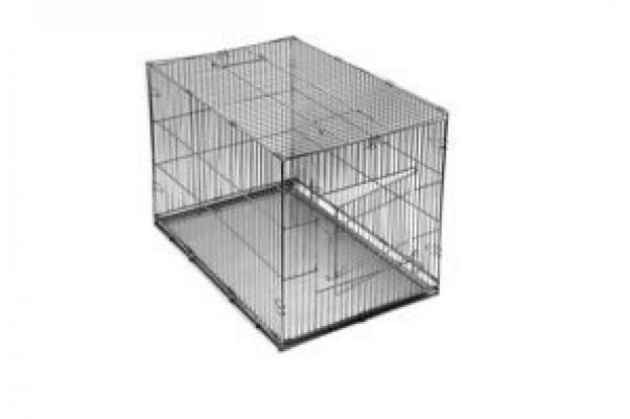 Redplastic Клетка-переноска для собак Дарэлл №2, с метал. поддоном, хром, складная, 60см*40см*42см, RP4069