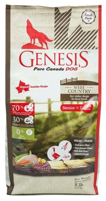 Genesis корм для пожилых собак всех пород, мясо гуся, фазана, утки и курицы 2,268 кг
