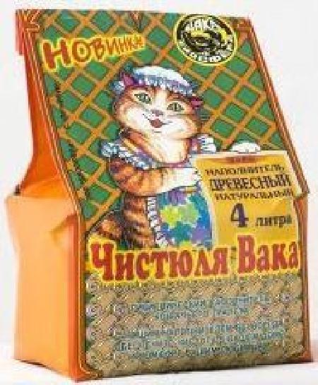 Наполнитель Чистюля ВАКА Древесный для кошек  2л (10шт.)