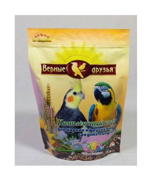 Верные друзья корм для средних попугаев 500 гр