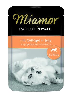 Miamor Паучи для котят с птицей (кусочки в желе) (RAGOUT Kitten - mit Gefl?gel Kitten) 74058, 0,100 кг