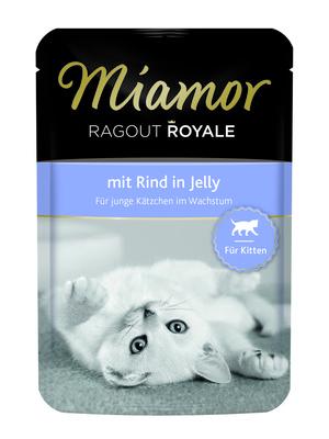 Miamor Паучи для котят с говядиной (кусочки в желе) (RAGOUT Kitten - mit Rind Kitten) 74057, 0,100 кг