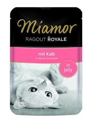 Miamor Паучи для кошек с телятиной (кусочки в желе)  (RAGOUT mit Kalb) 74056, 0,100 кг