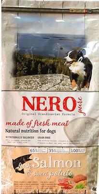 Nero Pure Беззерновой корм для взрослых собак со свежим лососем,  бататом и фруктами (Nero Pure Adult with Fresh Salmon 12kg) 70521808, 12,000 кг