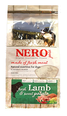 Nero Pure Беззерновой корм для взрослых собак со свежим ягненком, бататом и фруктами (Nero Pure Adult with Fresh Lamb 2,5kg) 70461809, 2,500 кг