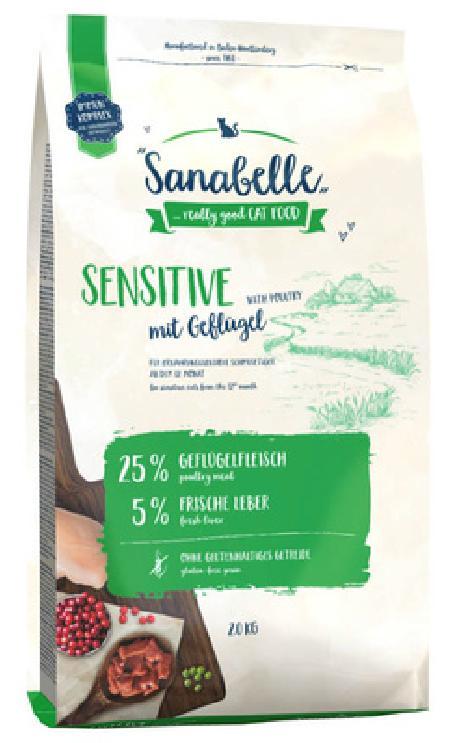 Sanabelle Сухой корм для кошек с птицей, чувствительное пищеварение Sensitive 8336002, 2,000 кг
