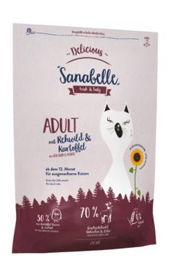 Bosch Sanabelle корм для взрослых кошек всех пород, деликатное пищеварение, косуля и картофель 2 кг