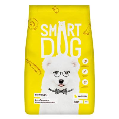 Smart Dog сухой корм Для щенков с цыпленком , 12,000 кг