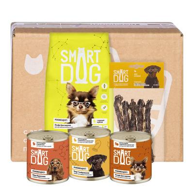 Smart Dog сухой корм Smart Box Рацион из птицы для умных собак, 1,500 кг