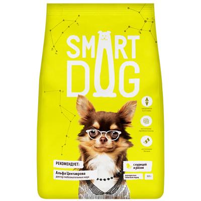 Smart Dog сухой корм Для взрослых собак с курицей и рисом , 0,800 кг