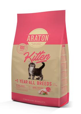 Araton корм для котят с мясом птицы 1,5 кг