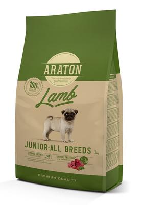 Araton Для щенков с ягненком и рисом (ARATON dog junior lamb) ART45966, 3,000 кг