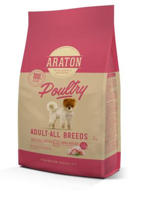 Araton Для взрослых собак с мясом птицы (ARATON dog adult poultry) ART45963, 3,000 кг