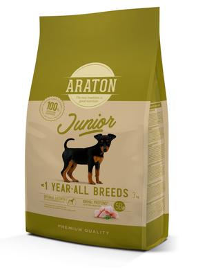 Araton Для щенков с мясом птицы (ARATON dog junior) ART45962, 3,000 кг