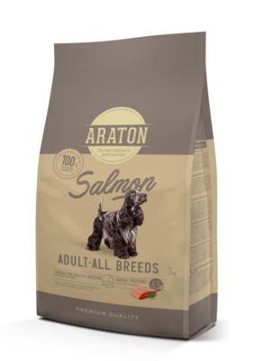 Araton Для взрослых собак с лососем и рисом (ARATON dog adult salmon) ART45965, 3,000 кг