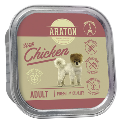 Araton Консервы Безглютеновые консервы для взрослых собак с курицей (Araton Adult canned pet food with chicken) KIK45704, 0,150 кг