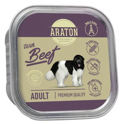Araton Консервы Безглютеновые консервы для взрослых собак с говядиной (Araton Adult canned pet food with beef) KIK45703, 0,150 кг