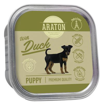 Araton Консервы Безглютеновые консервы для щенков с уткой (Araton Puppy canned pet food with duck) KIK45701, 0,150 кг