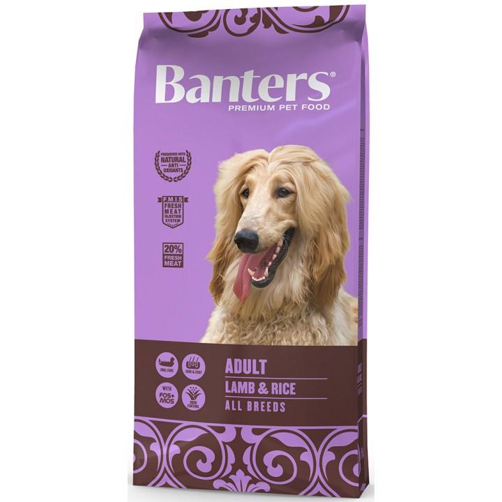 Banters корм для взрослых собак всех пород, ягненок и рис 15 кг