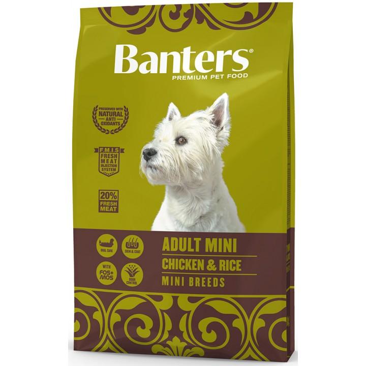 Banters корм для взрослых собак малых пород, курица и рис 8 кг