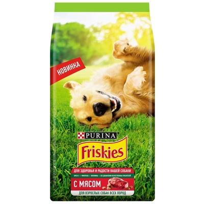 Friskies Сухой корм для взрослых собак с мясом (12459468), 2,000 кг