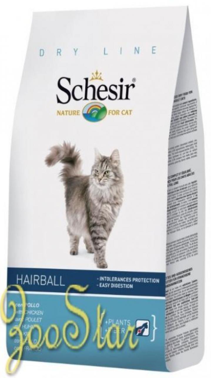 Schesir корм для длинношерстных кошек всех пород 1,5 кг