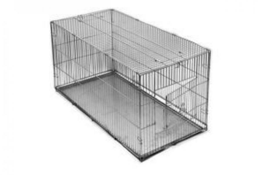 Redplastic Клетка-переноска для собак Дарэлл №3, с метал. поддоном, хром, складная, 80см*40см*42см, RP4070