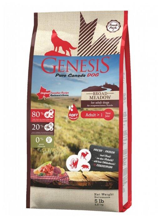 Genesis корм для взрослых собак всех пород, беззерновой, мясо косули и дикого кабана 2,268 кг
