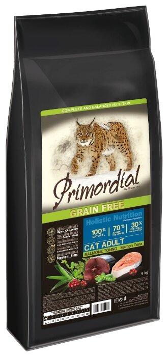 PRIMORDIAL Корм сух 6кг для кошек беззерновой лосось/тунец MGSP1206, 70605