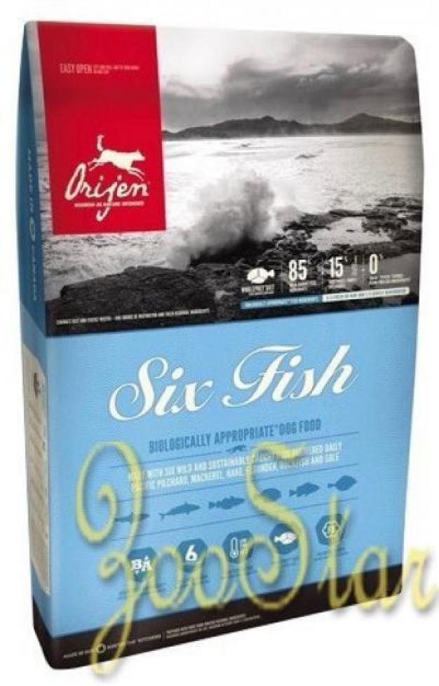Orijen Для собак с 6 видами свежей рыбы (6 Fresh Fish), 6 кг, 37024