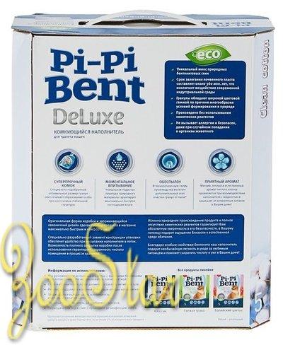 Pi-Pi-Bent Комкующийся наполнитель Делюкс Клин Коттон (коробка), 5,000 кг