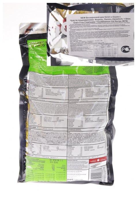 GO! ВИА Беззерновой для Котят и Кошек с Чувств.пищеварением: Форель, Лосось (Sensitivity + Shine Grain Free Freshwater Trout&Salmon Cat Recipe 45/18, 7,260 кг, 20037