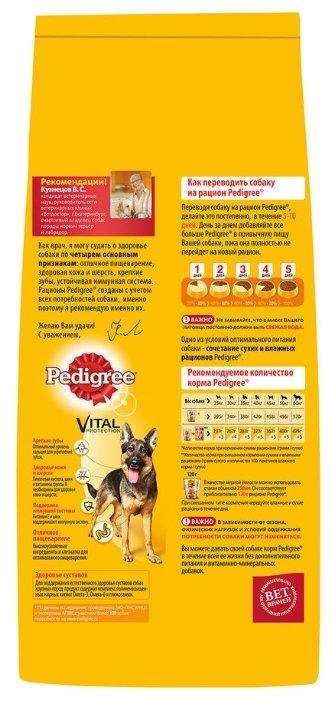 Pedigree корм для взрослых собак крупных пород, говядина 13 кг