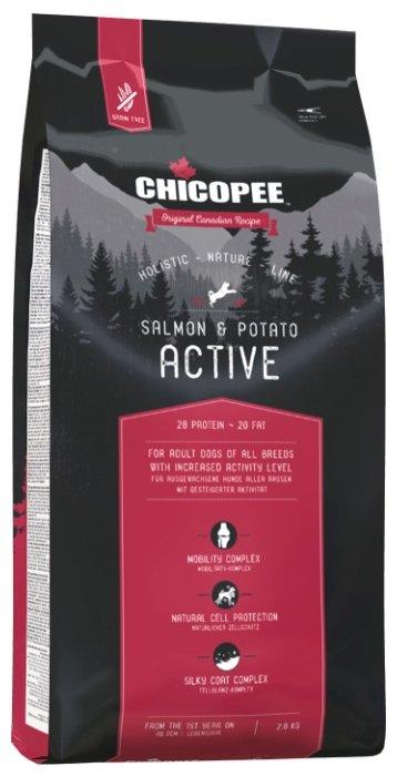 Chicopee корм для активных собак всех пород, лосось и картофель 2 кг