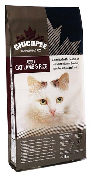Chicopee корм для взрослых кошек всех пород, гипоаллергенный, с ягненком и рисом 2 кг