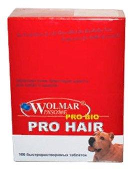 Wolmar Winsome Pro Bio Pro Hair комплекс для взрослых собак и щенков, для кожи и шерсти 360 таблеток, 1700100378