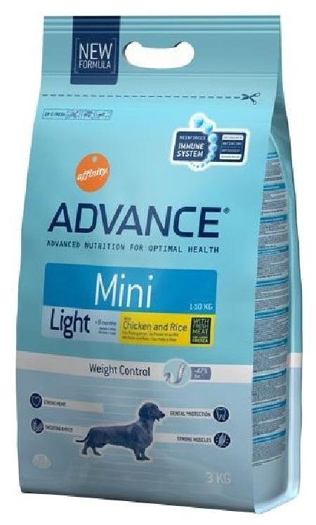 Advance корм для взрослых собак малых пород, контроль веса, курица и рис 800 гр