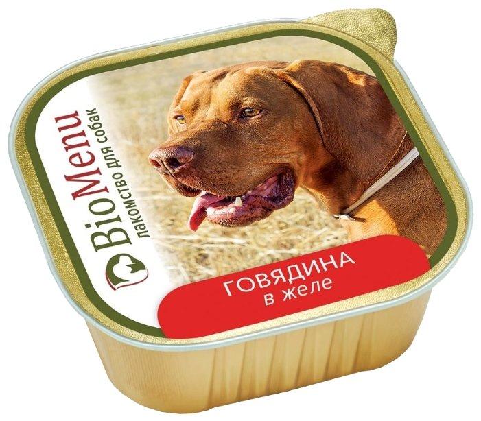 BioMenu влажный корм для собак всех пород и возрастов, говядина в желе 150 гр