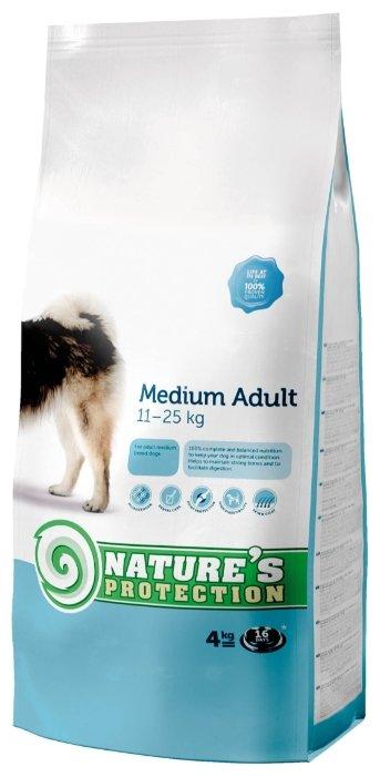 Nature's Protection корм для взрослых собак средних пород, курица, индейка и утка 4 кг