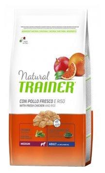 Trainer Natural корм для взрослых собак средних пород с курицей и рисом и рисом 3 кг