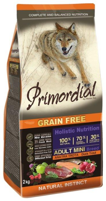 PRIMORDIAL Корм сух 400 г для собак мелких пород беззерновой форель/утка 1х10 MSP51400, 70609