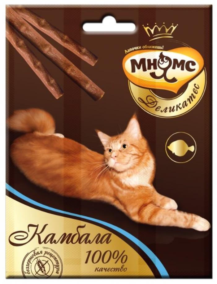 Мнямс лакомство для взрослых кошек всех пород, камбала 13 гр, 2000100830
