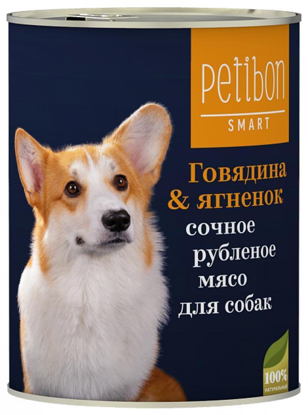 Petibon Smart влажный корм для собак всхе пород и возрастов, говядина и ягненок 410 гр