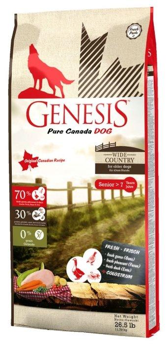 Genesis корм для пожилых собак всех пород, мясо гуся, фазана, утки и курицы 11,79 кг