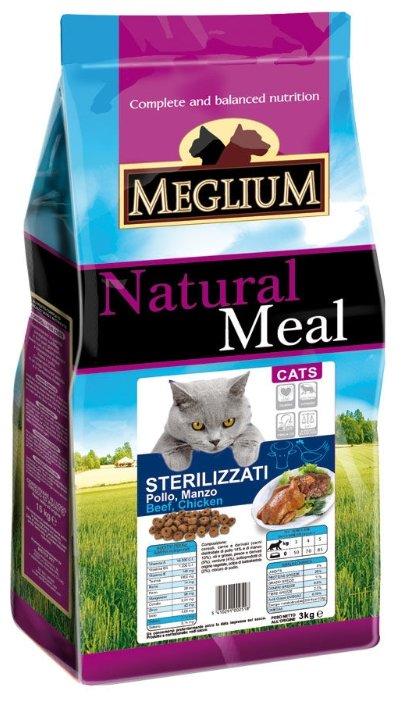 MEGLIUM NEUTERED Корм сух. 3 кг для стерилизованных кошек рыба курица MGS1203, 64000
